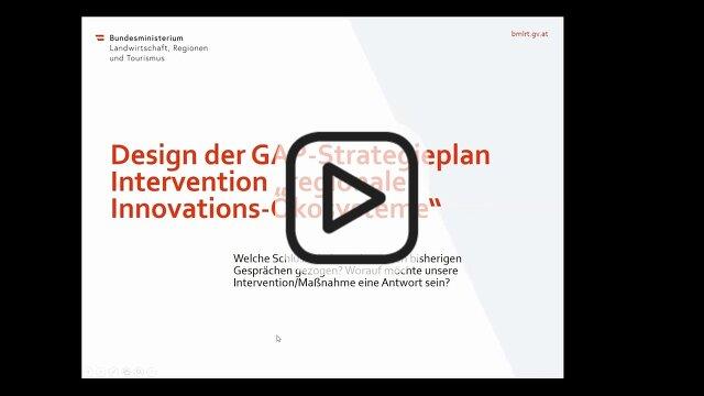Innovationsökosysteme in ländlichen Regionen – Architektur einer neuen Fördermaßnahme im GAP-Strategieplan 2021–2027 Christian Rosenwirth und Rita Trattnigg | BMLRT